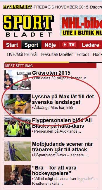 sportbladet medst sedda